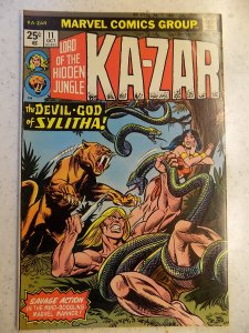 KA-ZAR LORD OF THE HIDDEN JUNGLE # 11 MARVEL ACTION ADVENTURE