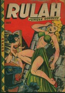 Rulah - Jungle Goddess #19 (#3) 1948 Fox Comics, Jungle Catfights, Pin-Up Art