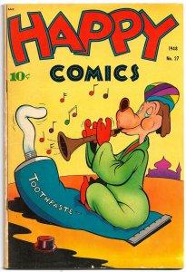 HAPPY COMICS #27 (Sept1948)5.0VG/FN * 3 FRANK FRAZETTA Funny Animal Text Illos!