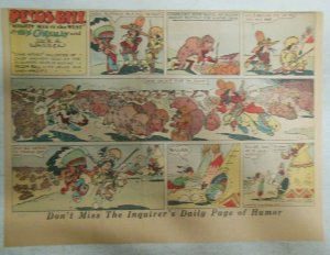 Pecos Bill Sunday Page by Tex O'Reilly 2/21/1937 Size: 11 x 15 inches Rare !