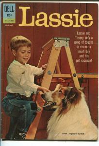 LASSIE #58 1962-DELL-TIMMY-JON PROVOST-TV SERIES-LAST DELL ISSUE-vg/fn