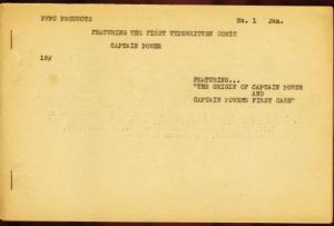CAPTAIN POWER #1-1960'S-VERY RARE EARLY FANZINE-COMIC  VG/FN