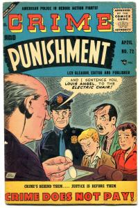 Crime and Punishment #72 1955-Rare later issue- Lev Gleason Silver Age VG