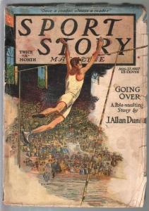 Sport Story 8/22/1927-F A Carter cover-pole vaulting-J A Dunn-VG-