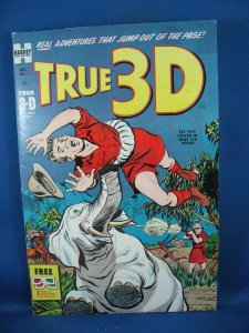 True 3-D #1 (Dec 1953, Harvey) Fine+ Glasses included