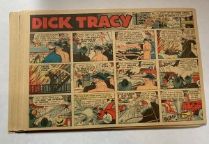 Dick Tracy Newspaper Comics Sundays 1945 Complete Year Great Shape 52 Total