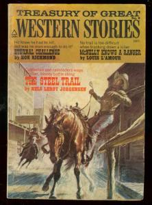 TREASURY OF GREAT WESTERN STORIES #8 1972-LOUIS L'AMOUR VG