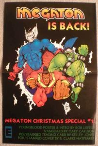 MEGATON IS BACK Promo poster, 11x17, 1993,  Unused, more Promos in store