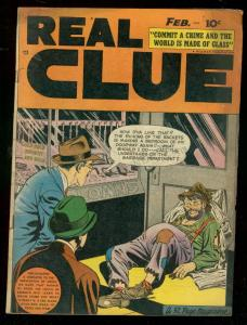 REAL CLUE CRIME STORIES v.3 #12 1949-HILLMAN PRE-CODE FN-