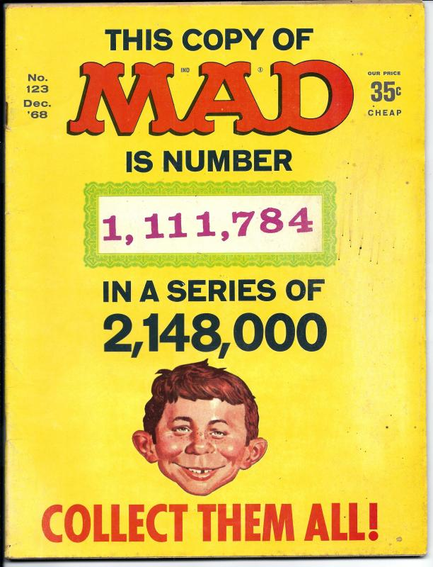 Mad No. 123,  Dec, 1968 (G+)