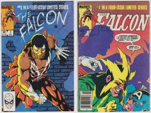 Falcon #1 and 2 (1983) 4.0 VG Marvel Comics