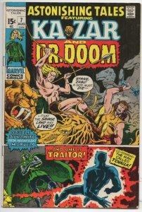 ASTONISHING TALES #7 FN Black Panther Dr Doom Kazar, 1971, Bronze age