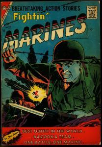 Fightin' Marines #22 1957- Chalrton War Comic- wild cover VG-