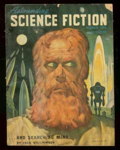ASTOUNDING SCIENCE-FICTION MARCH '48-L RON HUBBARD-PULP VG
