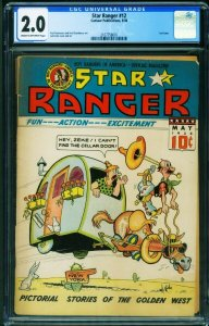 Star Ranger #12 CGC 2.0-1938-Rare COMIC BOOK-Centaur 2107758001