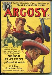 ARGOSY 2/1940-RED STAR-CORNELL WOOLRICH-PULP-MINIONS OF MARS-fn minus