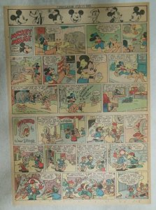 Mickey Mouse Sunday Page by Walt Disney from 2/25/1945 Tabloid Page Size