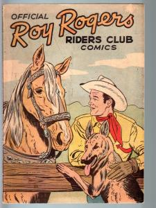 OFFICIAL ROY ROGERS RIDERS CLUB COMICS #1-1952-16 PAGES-VF- VF-