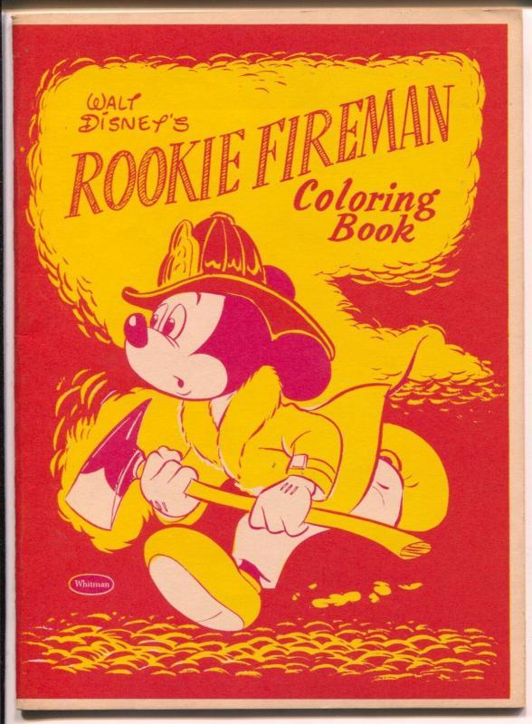 Walt Disney\'s Rookie Fireman Coloring Book-Mickey Mouse 1957-Whitman ...