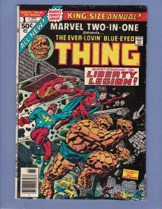 Marvel Two-In-One Annual #1 VG Thing Marvel 1976