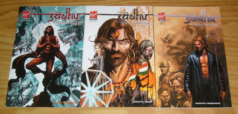 Sadhu: Wheel of Destiny #1-3 VF/NM complete series - comics with india culture 2