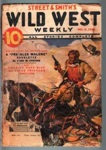 WILD WEST WEEKLY-12/5/1936-PULP-TEXAS TRIGGERS-SHERIFF PETE RICE FR
