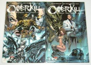 Overkill: Witchblade/Aliens/Darkness/Predator #1-2 VF/NM complete series 2000
