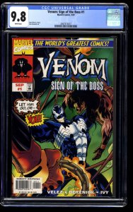 Venom: Sign of the Boss #1 CGC NM/M 9.8 White Pages
