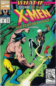 WHAT IF STORM OF THE X-MEN HAD REMAIN A THIEF  #40 FN/VG  MARVEL COMICS