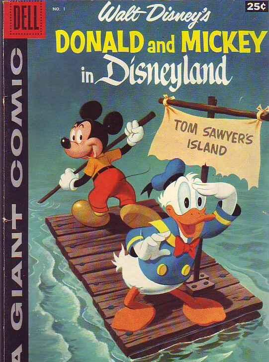 Dell Giant Donald and Micky in Disneyland #1 (May-58) VG+ Affordable-Grade Mi...