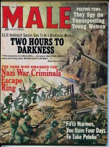 Male 1/1965-Atlas-pulp-Susan Radford cheesecake-Mort Kunstler-Pollen-WWII-FN