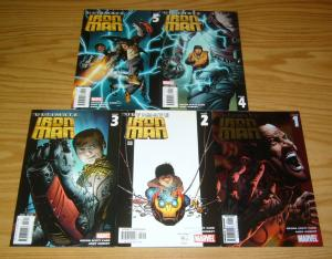 Ultimate Iron Man #1-5 VF/NM complete series - orson scott card - andy kubert
