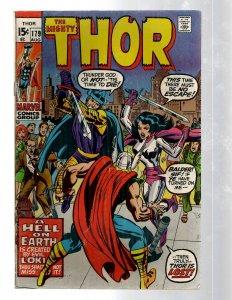 Mighty Thor # 179 FN Marvel Comic Book Loki Odin Asgard Sif Avengers Hulk RB8