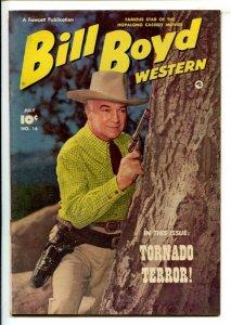 Bill Boyd Western #16 1951-Fawcett-portrait cover-Tornado Terror-Hopalong C...