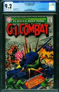 G.I. COMBAT #124 CGC 9.2 1967-DC-WWII STORIES- 2039573018