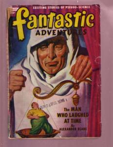 FANTASTIC ADVENTURES-AUG 1949-SCI FI FANTASY PULP--RARE VG