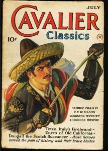 CAVALIER CLASSICS 1940 JUL-#1-JOHNSTON MCCULLEY-PULP VG