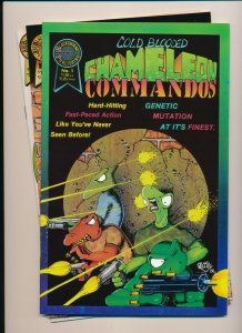 Lot of 3-COLD BLOODED CHAMELEON COMMANDOS #1-3 VF/NM (PF949)