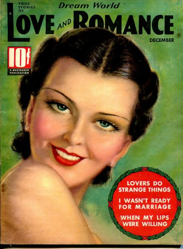 Dream World Love and Romance 12/1936-pin-up girl cover-Tchetchet-spicy-exotic-FN