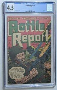 Battle Report #6 (Jun 1953, Ajax-Farrell) CGC 4.5 Ken Battlefield cover