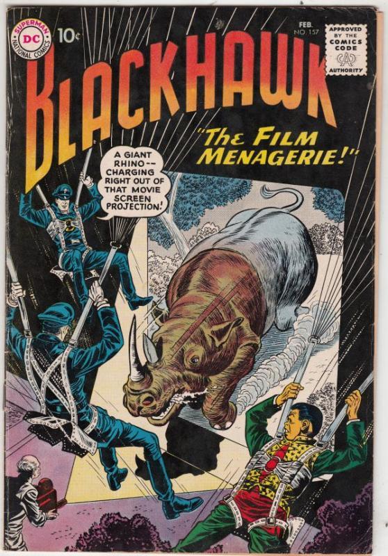 Blackhawk #157 (Feb-61) VF- High-Grade Black Hawk, Chop Chop, Olaf, Pierre,Ch...