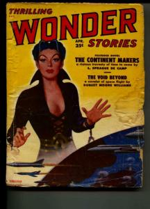 Thrilling Wonder Stories-Pulp-4/1951-Sprague De Camp-Robert Moore Williams