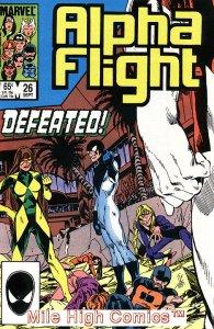ALPHA FLIGHT (1983 Series)  #26 Very Fine Comics Book