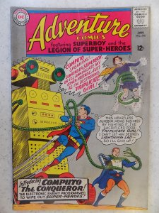 ADVENTURE COMICS # 340 LEGION OF SUPER-HEROES BOOK HAS SOME LIGHT STAINING TH...