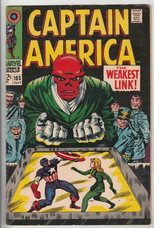 Captain America #103 (Jul-68) VF+ High-Grade Captain America