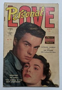 Personal Love #20 (March 1953, Eastern Color) G/VG 3.0 Robert Wagner photo cvr
