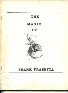 Magic of Frank Frazetta 1970's-full page Frazetta illustrations-rare-VG