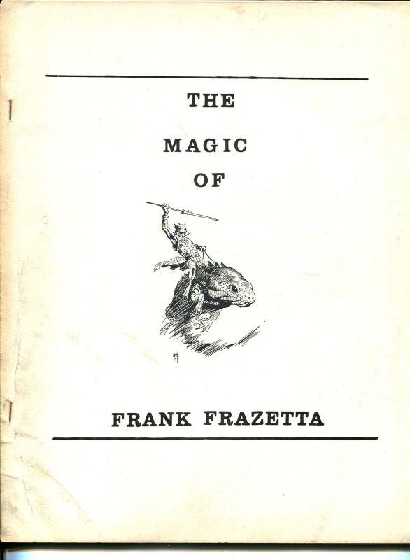 Magic of Frank Frazetta 1970's-full page Frazetta illustrations-rare-VG