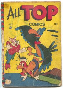 All Top Comics #7 1947- Golden Age Funny Animals Cosmo Cat FAIR