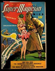 Super Magician Comics Vol. # 4 # 5 FN 1945 Golden Age Comic Book Demons NE3